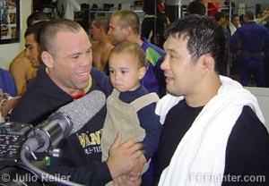 Wanderlei Silva, Silva's son Thor and Kazushi Sakuraba