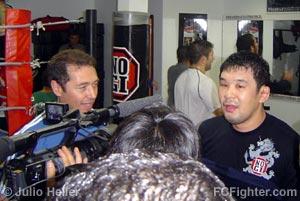 Rudimar Fedrigo and Kazushi Sakuraba