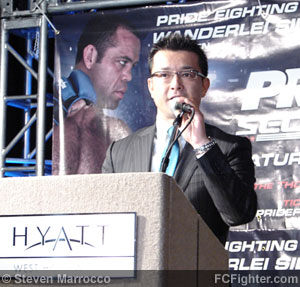 Pride FC Press Conference (Jan 11, 2007): DSE CEO Nobuhiku Sakikibara - Photo by Steven Marrocco