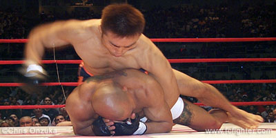 Masanori Suda beating on Egan Inoue