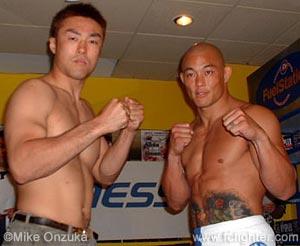 Masanori Suda (left) vs. Egan Inoue