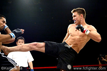Jake Shields kicking Ray Cooper