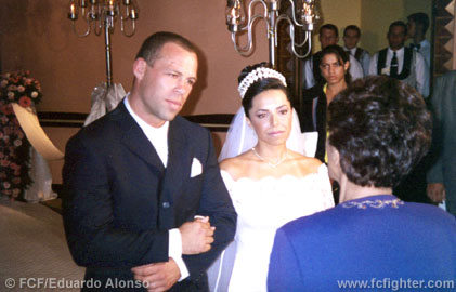 Wanderlei Silva and his wife Tea Ariadne