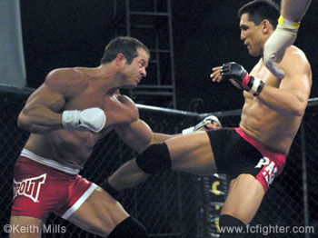Frank Shamrock (left) vs. Brian Pardoe
