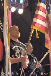 Tito Ortiz holding flag
