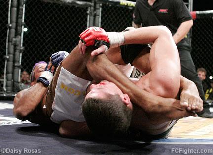 WEC 24: Hermes Franca armbars Nathan Diaz - Photo by Daisy Rosas