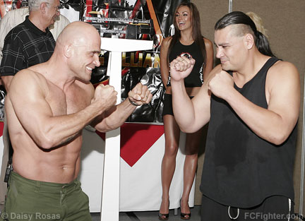 Bas Rutten (left) vs. Ruben Villareal - Photo by Daisy Rosas