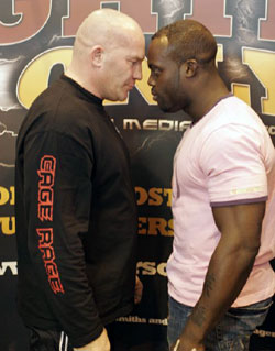 Ian Freeman vs. Melvin Manhoef - Photo courtesy of Ian Freeman