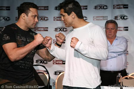 EXC Press Photo (from left to right): Renzo Gracie, Frank Shamrock, Gary Shaw - Photo by Tom Casino/EliteXC