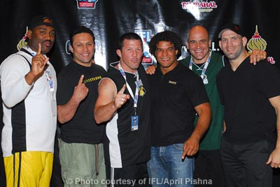 IFL Team Coaches: Maurice Smith, Renzo Gracie, Pat Miletich, Carlos Newton, Bas Rutten and Matt Lindland