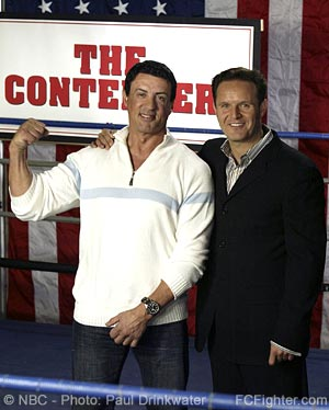 Sylvester Stallone and Mark Burnett at 'The Contender' Press Conference