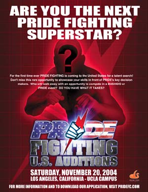 Pride FC U.S. Auditions