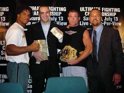 Carlos Newton, Dana White, Matt Hughes and Lorenzo Fertitta
