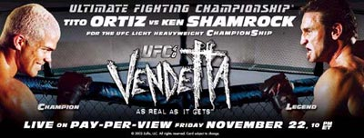 UFC 40 banner provided by UFC/Zuffa