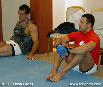 Training partner Serge Ignacio and Renzo Gracie