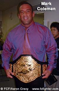 Mark Coleman post-fight at PRIDE 14