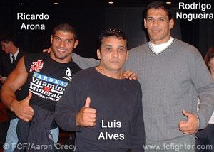 Ricardo Arona, Luis Alves and Rodrigo Nogueira