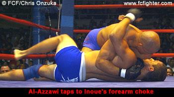 Egan Inoue taps out Brett Al-Azzawi
