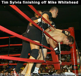 Tim Sylvia finishing off Mike Whitehead