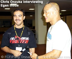Chris Onzuka interviewing Egan Inoue