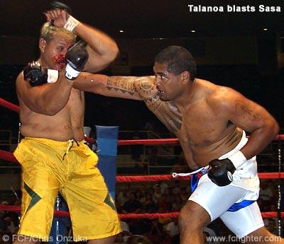Talanoa punching Sasa