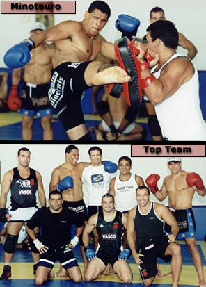 Minotauro kicking / Top Team