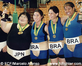 Japanese with Brazilian Female Sumos