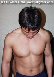 Yuki Kondo weighing in