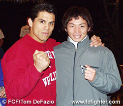 Frank Shamrock and Kaoru Uno