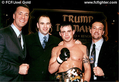Frank Fertitta, Dana White, Jens Pulver and Lorenzo Fertitta
