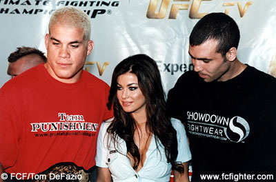 Tito Ortiz, Carmen Electra and Elvis Sinosic