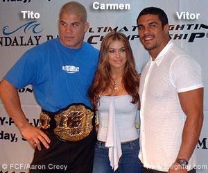 Tito Ortiz, Carmen Electra, Vitor Belfort