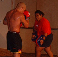 Tito Ortiz training