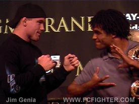 Matt Hughes and Carlos Newton