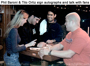 Phil Baroni and Tito Ortiz at NY Meet-n-Greet