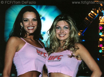 Ring card girls at UFC 35
