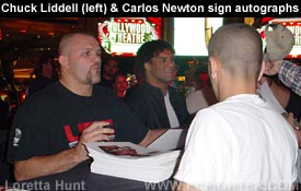 Chuck Liddell and Carlos Newton