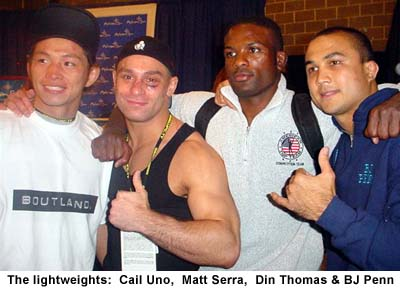 Caol Uno, Matt Serra, Din Thomas and BJ Penn