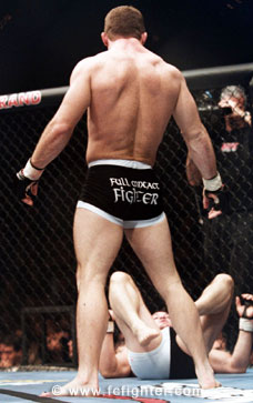 Matt Hughes standing over Gil Castillo at UFC 40