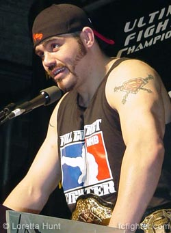 The new UFC Heavyweight Champion, Tim Sylvia