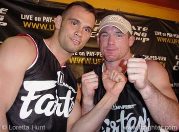 Miletich Team victors Rich Franklin (left) and Matt Hughes