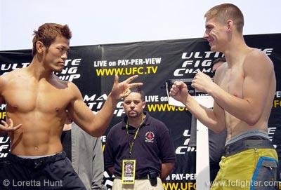 Genki Sudo (left) clowning it up with Duane Ludwig