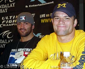 Winners Andrei Arlovski and Josh Thomson