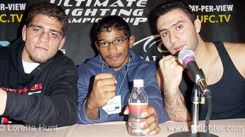 Winners Nick Diaz, Hermes Franca and Karo Parisyan