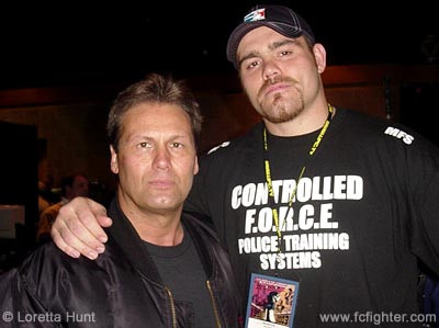 Giant Killer Keith Hackney (left) with Tim Sylvia