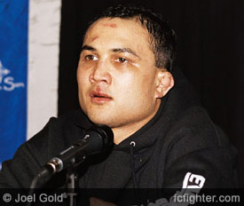 BJ Penn after beating Matt Hughes at UFC 46