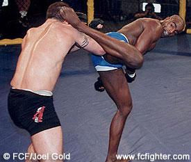 Pele kicking Dave Menne