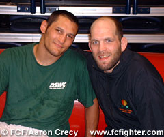 Dan Henderson and Matt Lindland post-match
